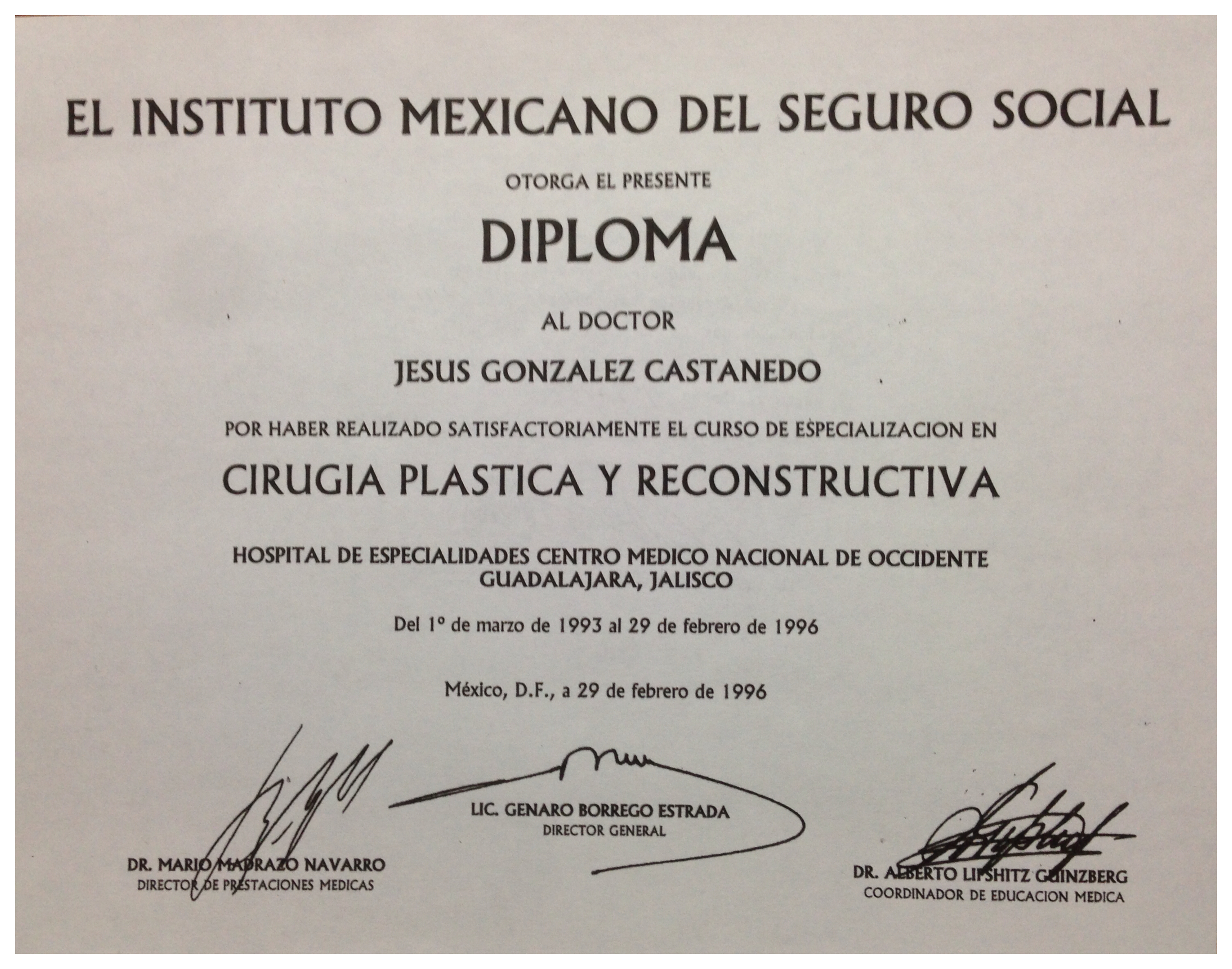 Mexican Institute of Social Security (IMSS) Diploma